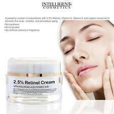 Retinol 2.5 Face Cream Anti Ageing Wrinkles With Hyaluronic Acid Vitamin E