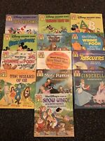Lot Of 13 Vintage Walt Disney See Hear Read Books Tapes NOT Included