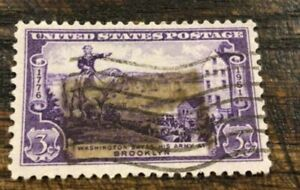 USA 🇺🇸 SCOTT # 1003 BATTLE OF BROOKLYN 3 CENT STAMP - used