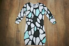 H&M knitted jumper dress wool SIZE 8 stretch bodycon quirky unusual  WORN ONCE!