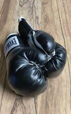 Everlast 12oz Advanced Training Boxing Gloves Heavy Bag Mitt Work Black White