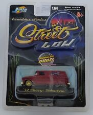 Jada Toys Street Low Lowrider 57 Chevy Suburban Red