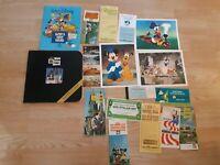 Lot Of Vintage Disney Paper Fantasyland Postcards 70's Mickey Money Pioneer Hall