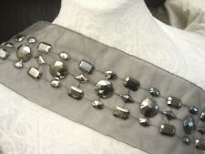 """New listing 15"""" *Jewels - Studs* Band Applique Steel Gray"""