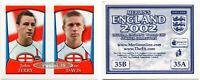 """RARE !! Sticker JOHN TERRY """"ENGLAND 2002"""" Panini ROOKIE"""