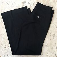 MARC JACOBS WIDE LEG PANTS 6 $395 Black shimmer Pinstriped Trousers Wool Blend