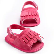 Summer Baby Girls Boys Fringed Moccasins First Walkers Soft Soled Sandals Shoes