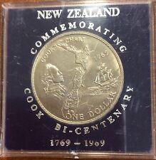 1969  new Zealand Cased large dollar - commemorating cook bi centenary
