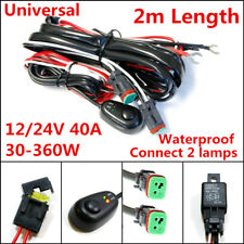 2 Lead 12V 40A 360W Car LED Work Light Bar Wiring Harness Kit ON/OFF Cable Sets
