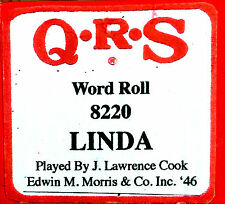 QRS 8220 LINDA a song about the then 1 yr old Linda McCartney Player Piano Roll