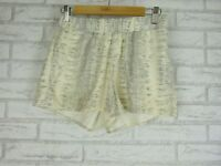 WITCHERY Shorts Sz 8 Grey Cream print