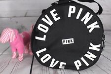 Victorias Secret PINK Tote Bag Duffle Overnight Large Beach Carryon Black Nwt