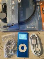 Apple iPod nano 2nd Generation Blue (4 GB) REFURBISHED BUNDLE