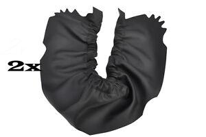 black stitch FITS ROVER MINI CLASSIC 2X DOOR POCKETS LEATHER