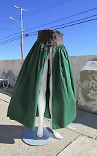 "NWOT S Pyramid Collection tavern wench skirt leather cotton corset laced 27"" w"