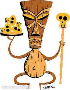 Brown Tiki Sticker Decal Artist Shag Josh Agle SH47