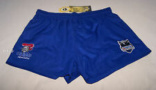Newcastle Knights NRL Mens Blue Embroidered Rugby Shorts Size S New