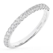0.50Carat Round Brilliant Cut Diamonds Half Eternity Wedding Ring in 950Platinum