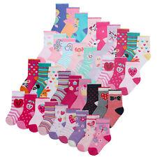 Newborn Baby Girls Cotton Rich Scallop Edge Socks 9 Pair Bundle Novelty Animal