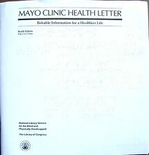 Mayo Clinic Health Letter - March 2018  (Braille for the blind)