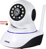 Caméra HD Wifi Surveillance Vidéo Sans Fil Sécurité Maison Vision nocturne 360°