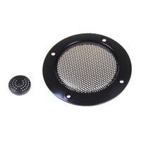 "2 Pcs 2"" inch Black Audio Speaker Cover Decorative Circle Metal Mesh GrilleS*"