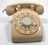 Vintage Bell System Western Electric CD500 Beige Tan Rotary Desk Phone