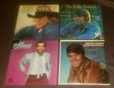 Lot of 4 country LP John Anderson WIld & Blue Glen Campbell Lee Greenwood exc