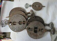 "6 Griswold & Diamond Cast Iron Steel Spindle Reversible Flue Damper 6"" & 4"""