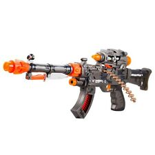 Cyber Mission Gun Toy Machine Gun With Sound, Light,Vibration and Light