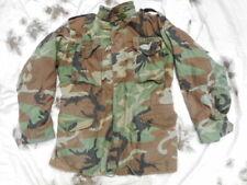 GENUINE ISSUE AMERICAN USA US ARMY M65 M 65 combat jacket coat WOODLAND CAMO M L