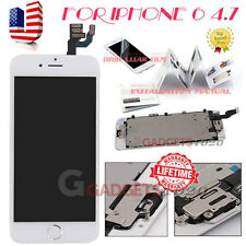 "White For iPhone 6 4.7"" LCD Display Touch Screen Digitizer Home Button+Camera US"