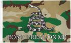 Camo Gadsden Flag 3x5ft Camo Don't Tread on Me Flag Camouflage Snake Flag