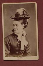 Derby J W Price. Victoria Chambers. Lady hat  CDV photograph  f.101