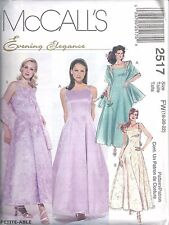McCalls Sewing Pattern # 2517 Misses Lined Dress Crinoline Stole Size 18-20-22