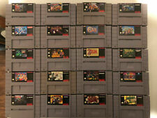 Assorted Super Nintendo (Snes) Games, Authentic, Tested and Cleaned.