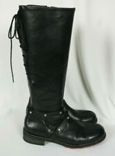 Wolky BELMORE 4433 Womens Tall Black Leather Lace Up Boots Sz 41 / US 9.5 - 10