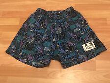 Vtg Mens Aloha Hawaiian Baggy Board Shorts Swim Shorts Size M Gecko Fabric Guess