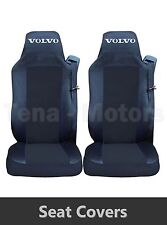 2 x VOLVO FH12 FH16 FL FM Seat Covers Tailored HGV Truck Lorry Black / Black