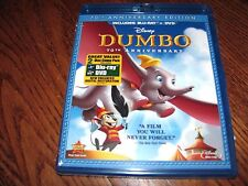Dumbo (Blu-ray/DVD,2011,2-Disc,70th Anniversary Edition) No Slipcover,Fast Ship