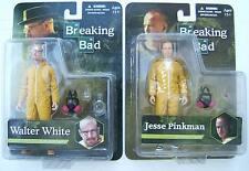 """Breaking Bad WALTER WHITE & JESSE PINKMAN 6"""" YELLOW HAZMAT SUIT FIGURES statue"""