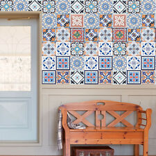 25pcs Vintage Portuguese Spanish Backsplash Floor Sticker Removable Tile 20x20cm