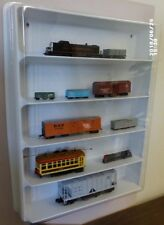 Mach 5 display case (white) w/clear dust cover for Z N HO S  O scale Trains