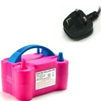 Portable Dual Nozzle Electric Balloon Pump Inflator Air Blower Party Birthday