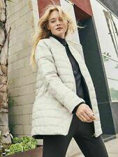 ATHLETA ReversaWarm Down Coat Jacket XXS 00 | Grey REVERSIBLE Winter Snow NWT