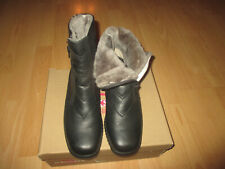 ara..Echtleder - LAMMFELL..Boots / Stiefeletten Gr.6 H = 39..kleiner Keil-Absatz