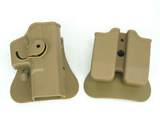 Hot Sale Hunting Guns For GLOCK 17/19 RH Pistol & Magazine Paddle Holster TAN