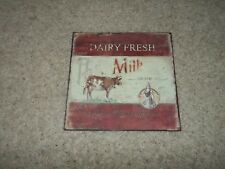 DAIRY FRESH MILK METAL REPRODUCTION SIGN MANCAVE WALL DECORE