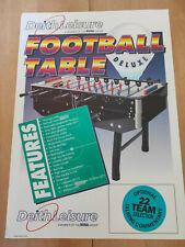 Deith Leisure (SEGA) Table Football Deluxe Sales Flyer/ Brochure