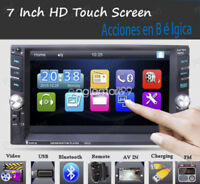6.6'' Autoradio Stéréo MP5 Player 2 DIN USB/Remote Head Unit Bluetooth Touch